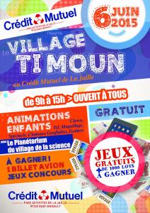 Flyer Village Timoun au Crédit Mutuel de la Jaille