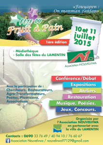 Affiche Fête du fruit à pain 2015