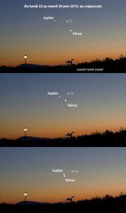 Conjonction Jupiter Vénus 06/2015