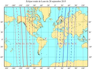 Eclpse totale de Lune du 27/28 septembre 2015