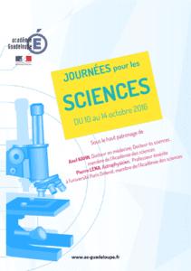 Programme Journées pour les Sciences 2016