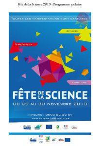 Programme Scolaire Fête de la Science 2013
