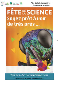 Programme Scolaire Fête de la Science 2014