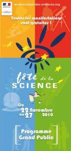 Programme Tout Public Fête de la Science 2010