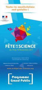 Programme Tout Public Fête de la Science 2011