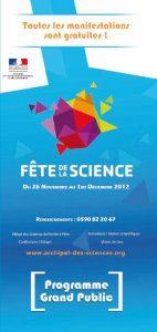 Programme Tout Public Fête de la Science 2012