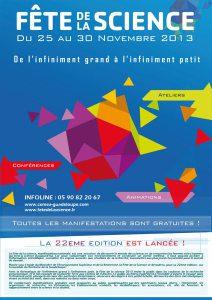 Programme Tout Public Fête de la Science 2013