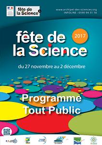 Programme tout public Fête de la Science 2017