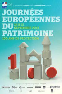 Affiche Journées Européennes du Patrimoine 2013