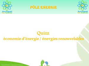 Quizz Economies d'énergies/énergies renouvelables