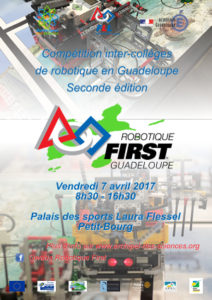 Affiche Robotique First Guadeloupe 2017