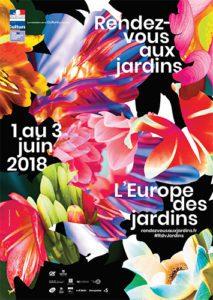 Affiche RDV aux jardins 2018