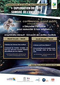 Affiche 2ème Sommet Mondial Exploration cote sombre de l'univers