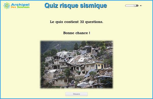 Quiz risque sismique