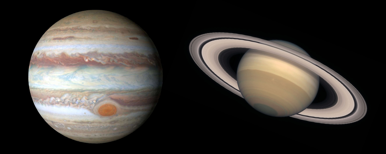Conjonction de Jupiter et Saturne
