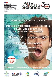 Affiche Concours Fête de la Science 2021